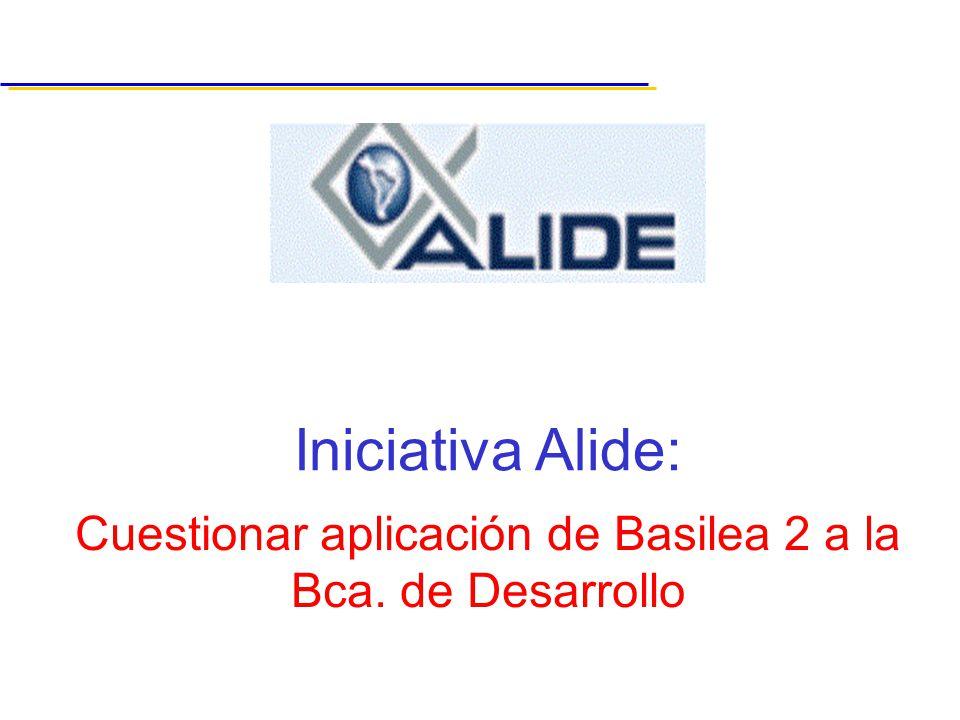 Cuestionar aplicación de Basilea 2 a la Bca. de Desarrollo Iniciativa Alide: