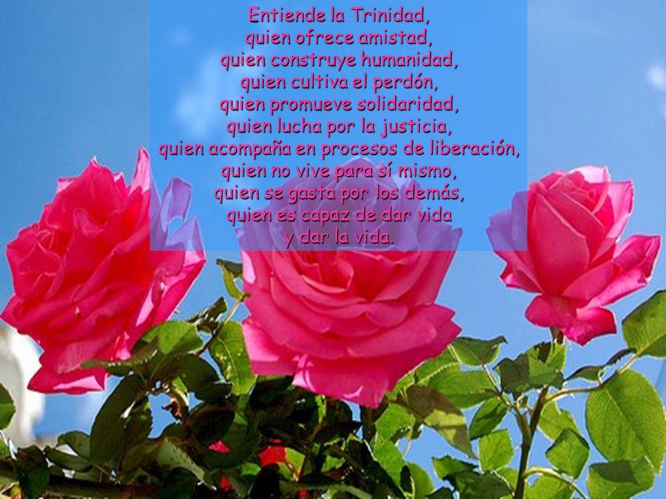 Trinidad: el Dios vivo del amor. El Dios crucificado de la compasión, el Dios liberador de la vida, el Dios que rompe las cadenas, la compañía del Dio