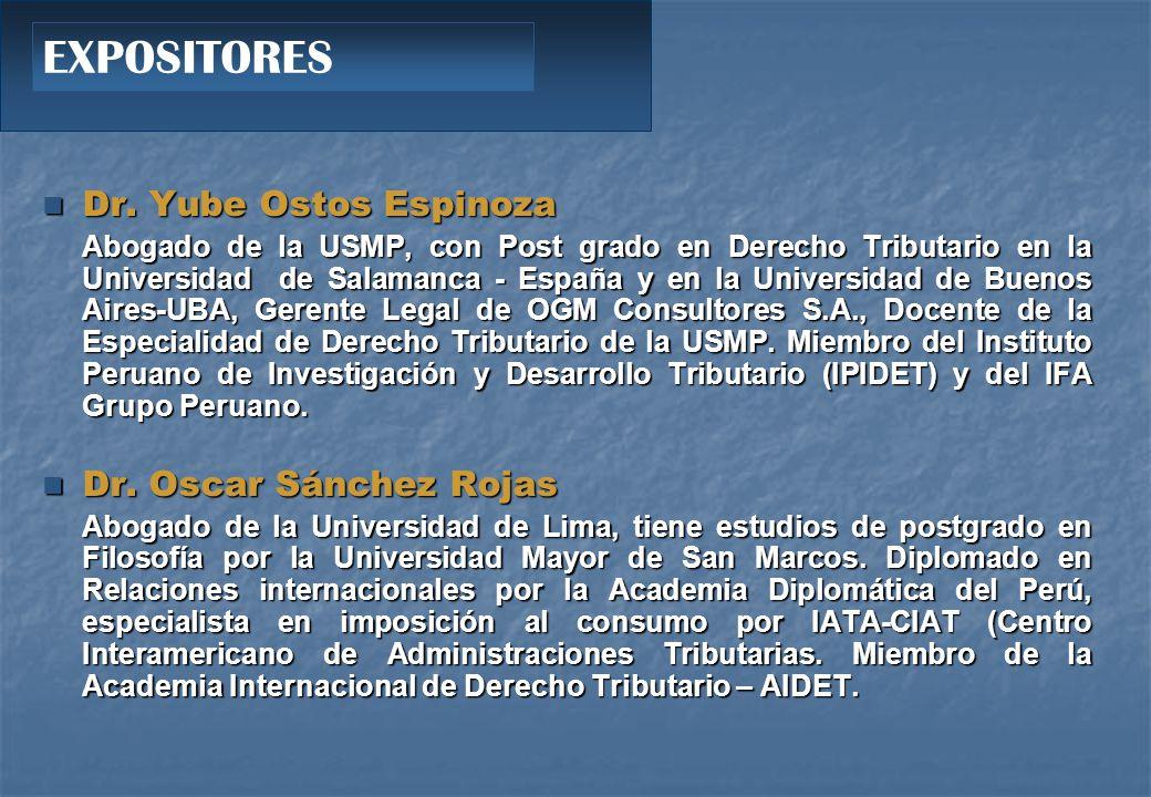 Dr.Yube Ostos Espinoza Dr.