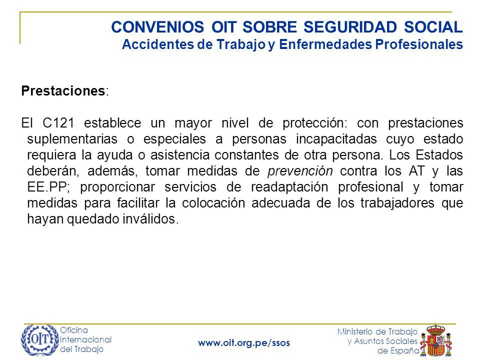 Oficina Internacional del Trabajo Ministerio de Trabajo y Asuntos Sociales de España www.oit.org.pe/ssos CONVENIOS OIT SOBRE SEGURIDAD SOCIAL Accident