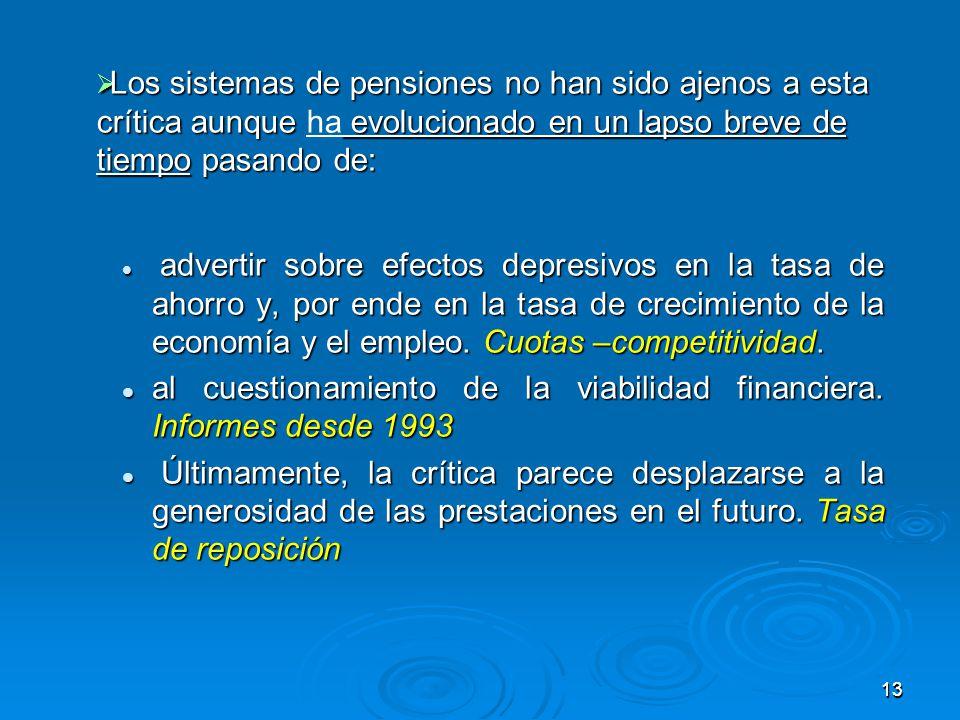 1313 advertir sobre efectos depresivos en la tasa de ahorro y, por ende en la tasa de crecimiento de la economía y el empleo.