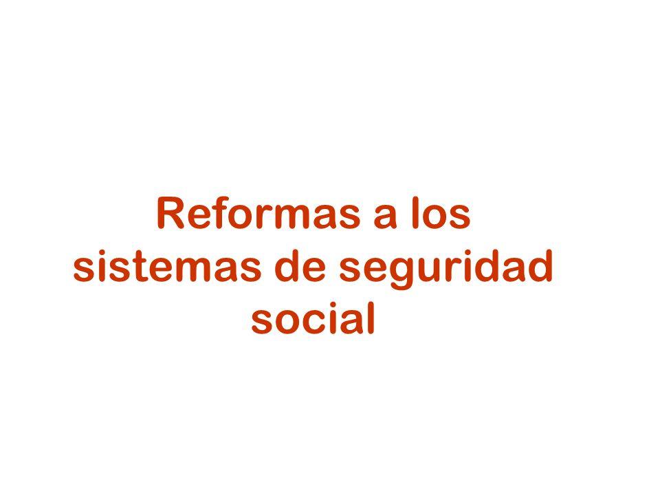 3 Reformas: seguridad social en salud Descentralización territorial Separación de funciones de financiamiento y provisión Competencia en el aseguramiento Competencia en la provisión de servicios Control contributivo / combate a la evasión Extensión de cobertura (contributiva y no contributiva)