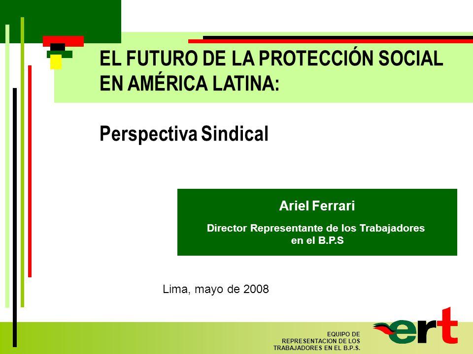 22 EQUIPO DE REPRESENTACION DE LOS TRABAJADORES EN EL B.P.S.
