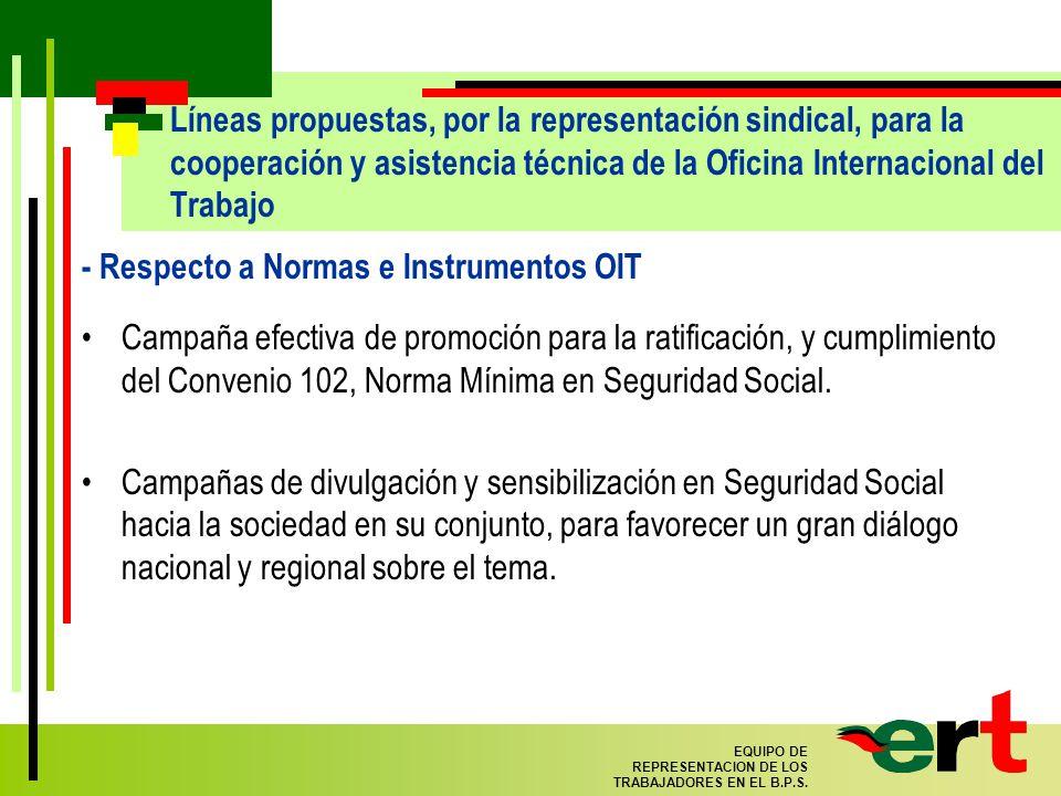 66 EQUIPO DE REPRESENTACION DE LOS TRABAJADORES EN EL B.P.S.