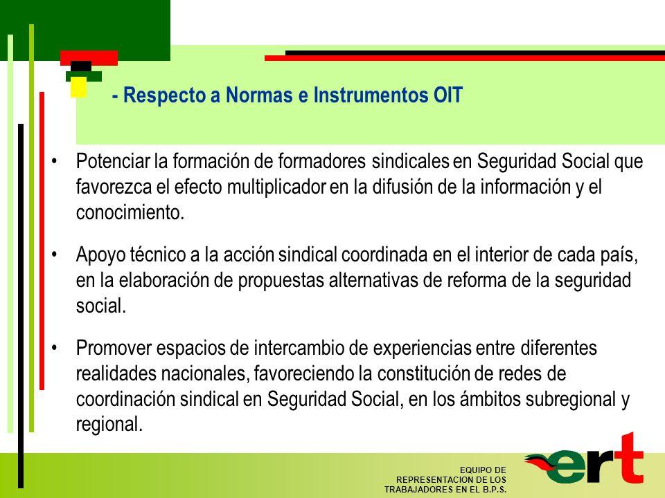 77 EQUIPO DE REPRESENTACION DE LOS TRABAJADORES EN EL B.P.S.