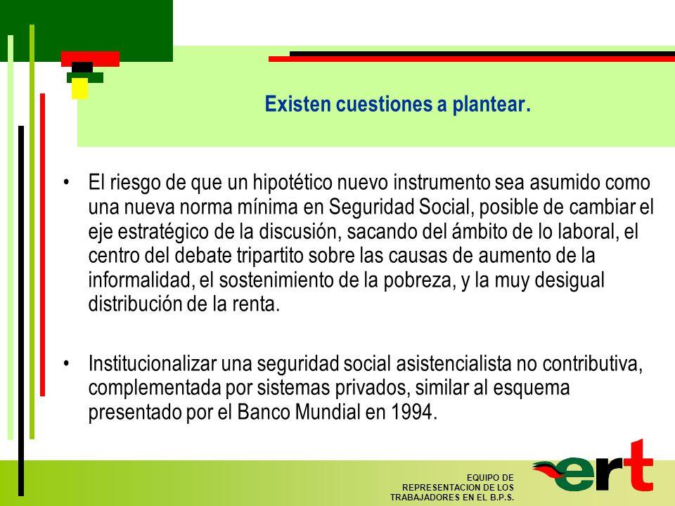 88 EQUIPO DE REPRESENTACION DE LOS TRABAJADORES EN EL B.P.S.