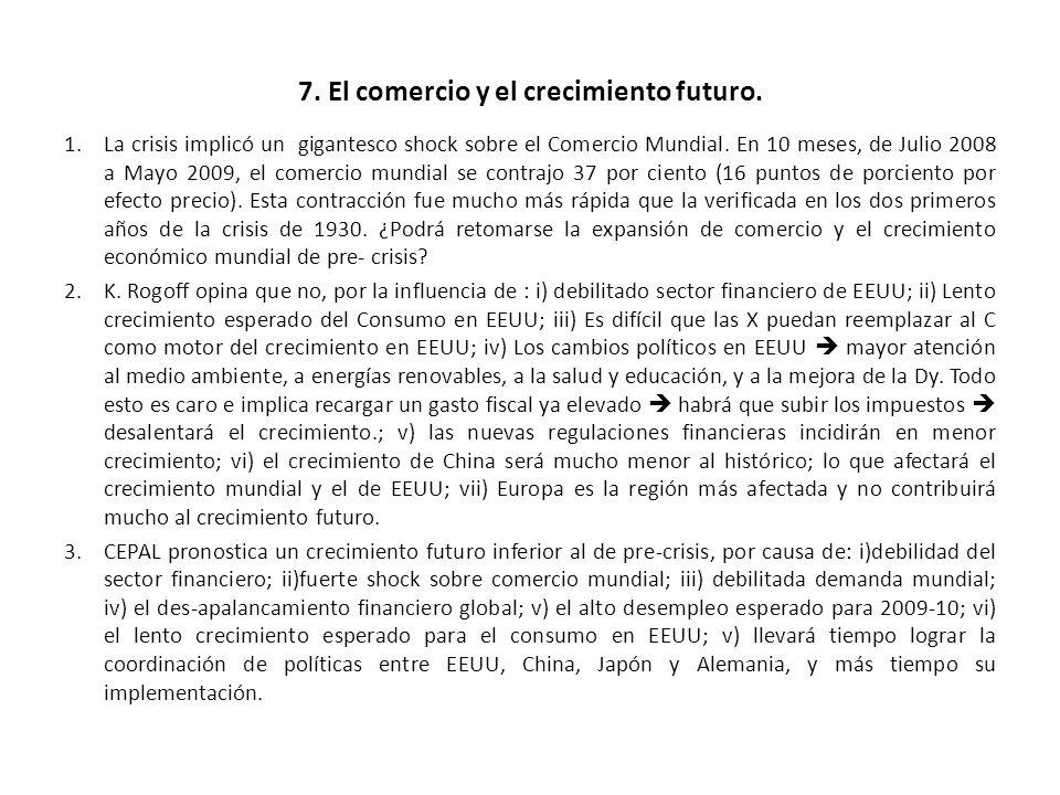 7. El comercio y el crecimiento futuro.