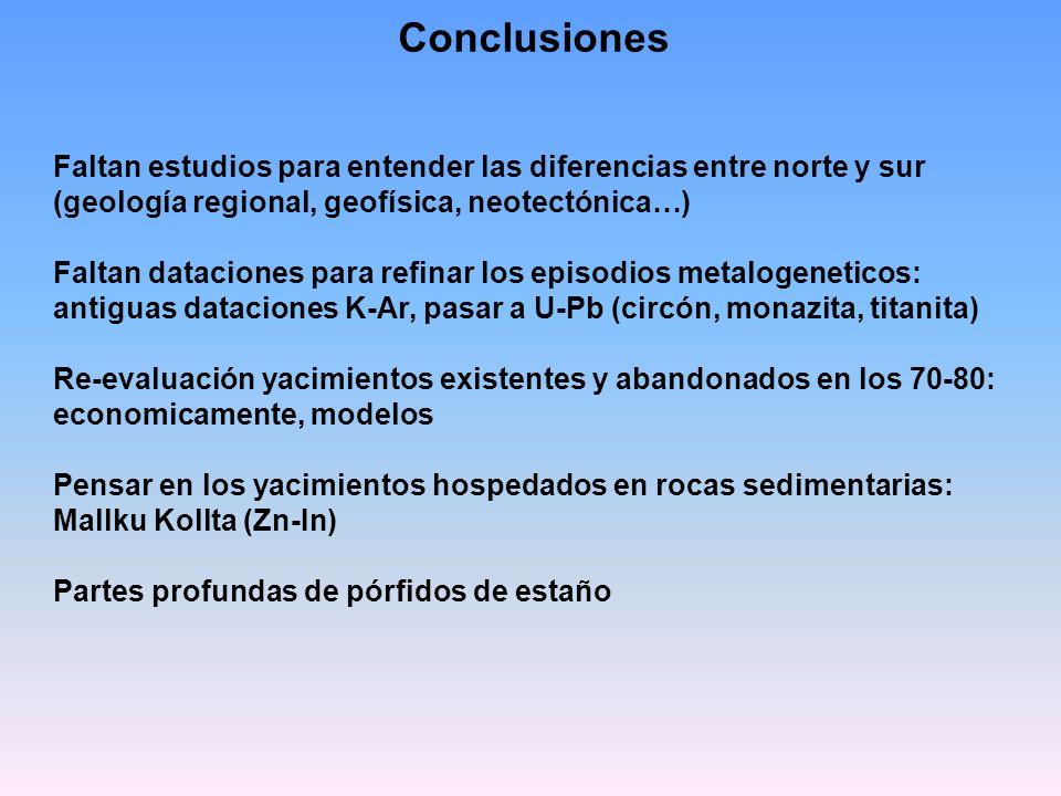 Conclusiones Faltan estudios para entender las diferencias entre norte y sur (geología regional, geofísica, neotectónica…) Faltan dataciones para refi