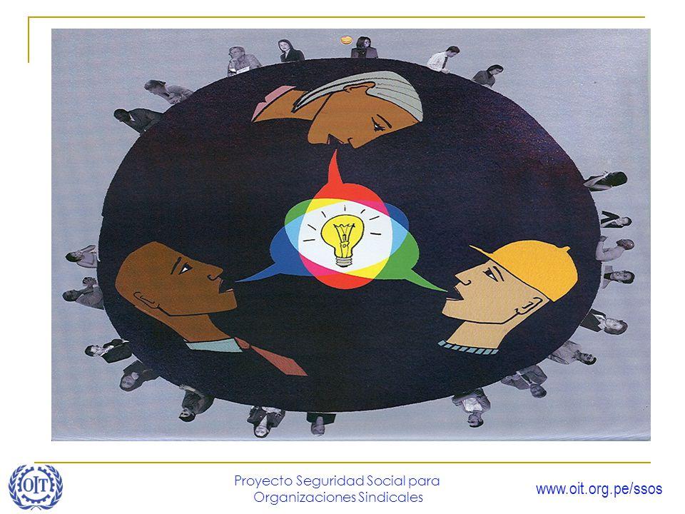 www.oit.org.pe/ssos Proyecto Seguridad Social para Organizaciones Sindicales