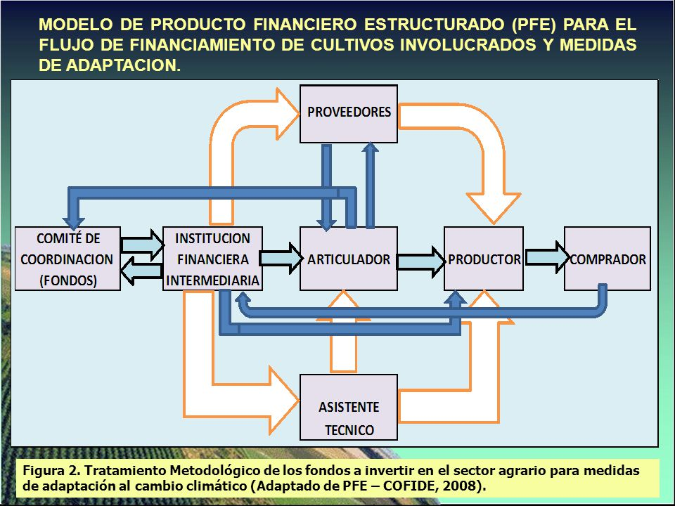 MODELO DE PRODUCTO FINANCIERO ESTRUCTURADO (PFE) PARA EL FLUJO DE FINANCIAMIENTO DE CULTIVOS INVOLUCRADOS Y MEDIDAS DE ADAPTACION. Figura 2. Tratamien