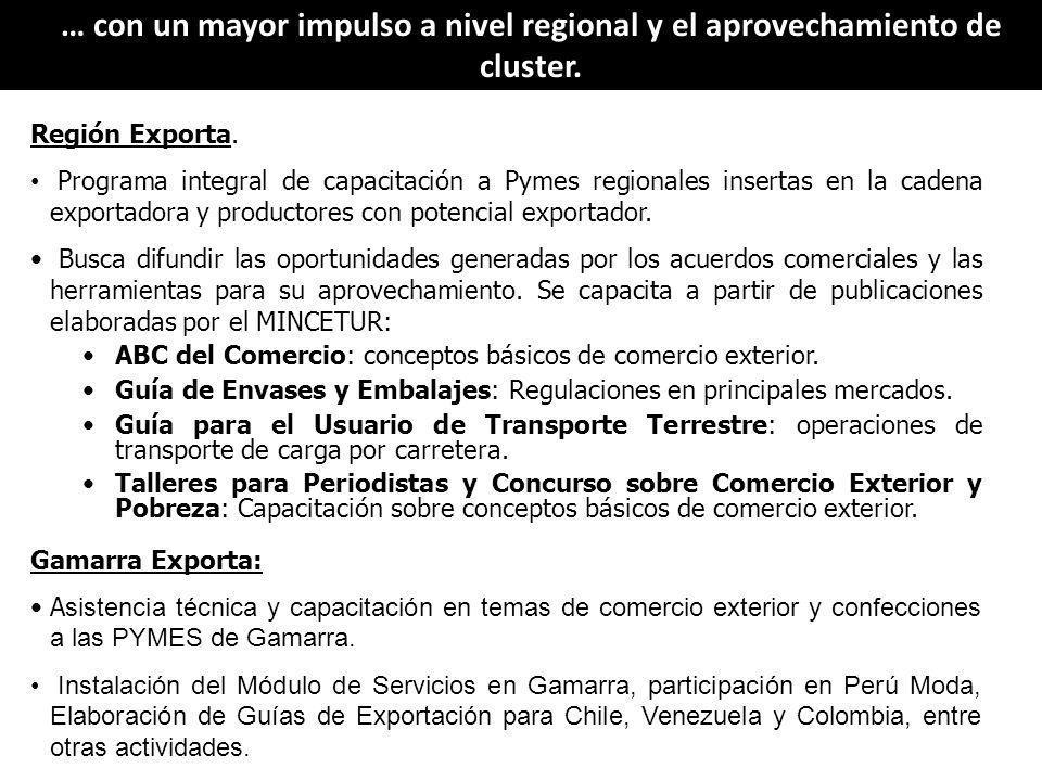 El desarrollo del turismo permite de manera complementaria y como parte del comercio exterior, a través de la exportación de servicios, posicionar al Perú en los mercados internacionales.