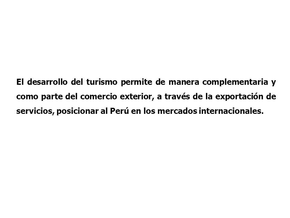 Plan Estratégico Nacional de Turismo Desarrollo de los destinos turísticos priorizados: Ruta Moche (Lambayeque y La Libertad) y Río Amazonas en Loreto, Kuelap (Amazonas), Playas del Norte (Tumbes y Piura), Paracas- Nazca (Ica), Valle del Colca (Arequipa) y Lago Titicaca (Puno).