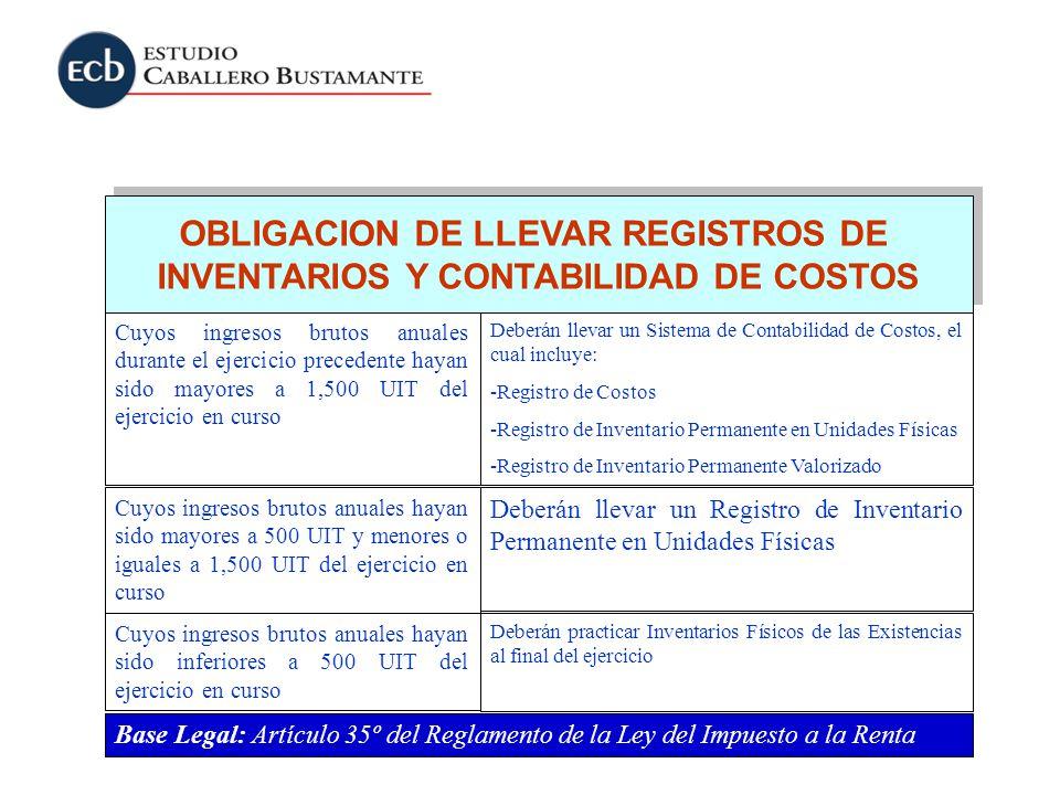 OBLIGACION DE LLEVAR REGISTROS DE INVENTARIOS Y CONTABILIDAD DE COSTOS OBLIGACION DE LLEVAR REGISTROS DE INVENTARIOS Y CONTABILIDAD DE COSTOS Cuyos in