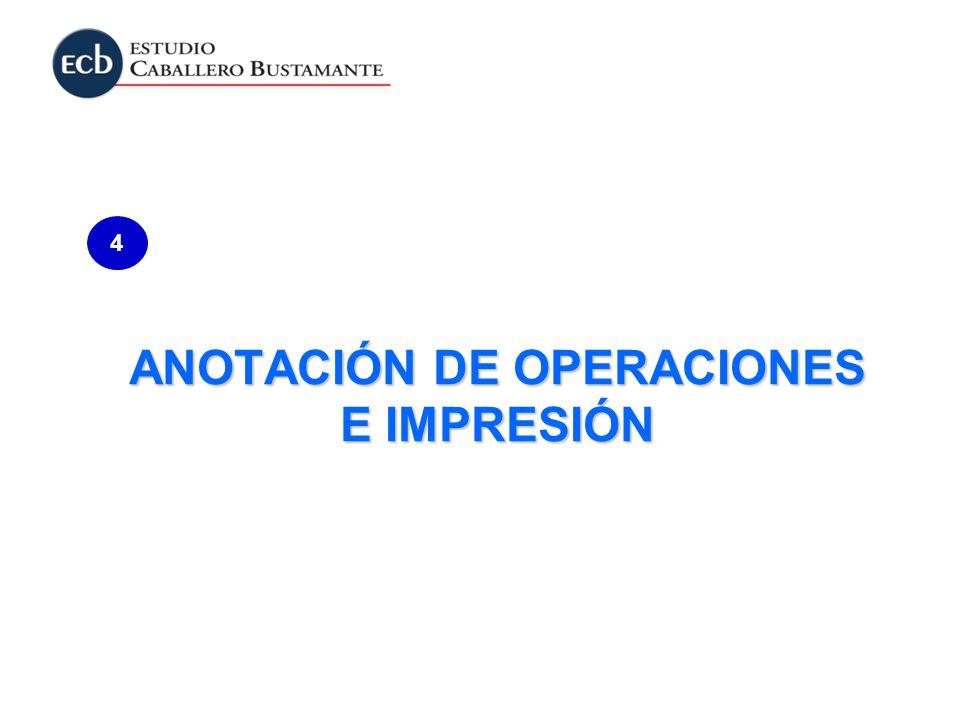 ANOTACIÓN DE OPERACIONES E IMPRESIÓN 4