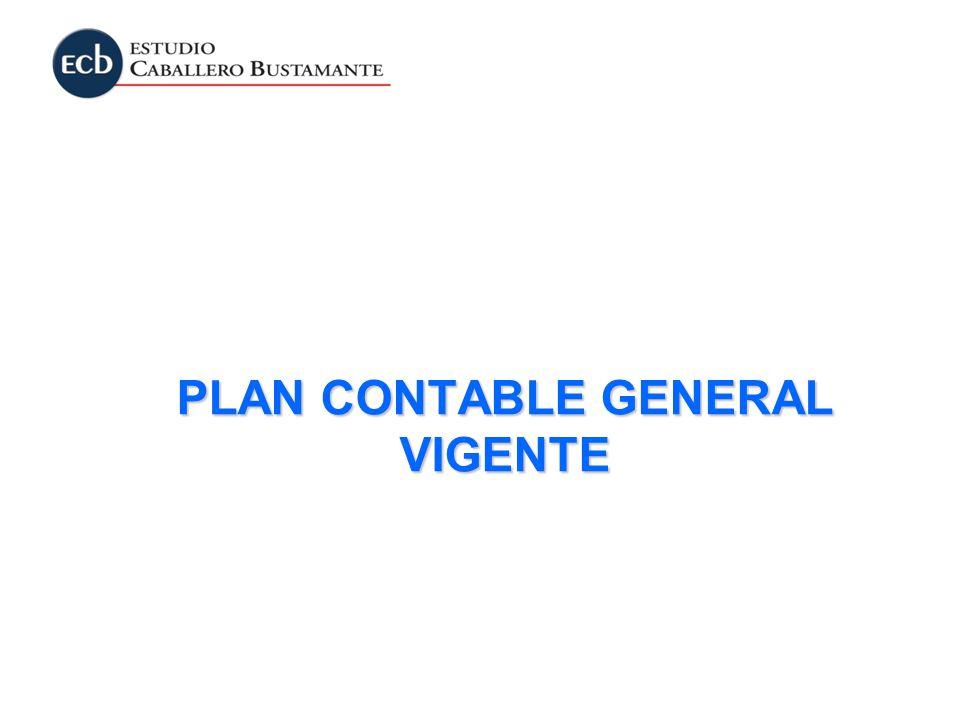 PLAN CONTABLE GENERAL VIGENTE