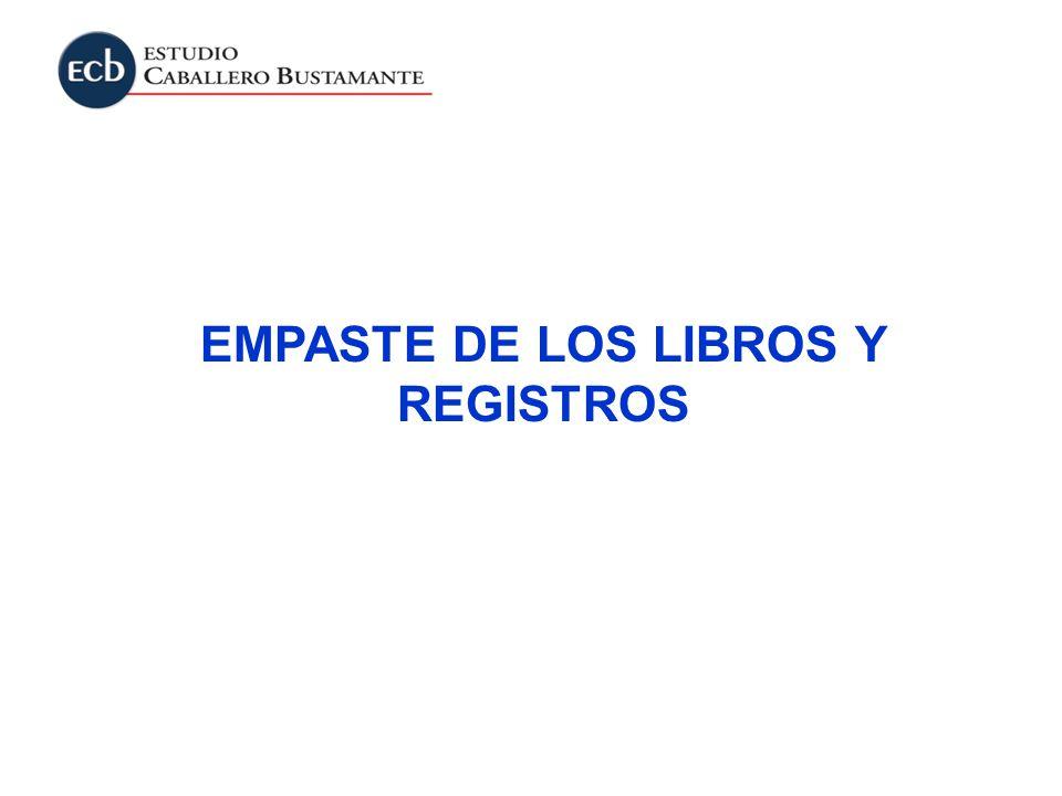 EMPASTE DE LOS LIBROS Y REGISTROS