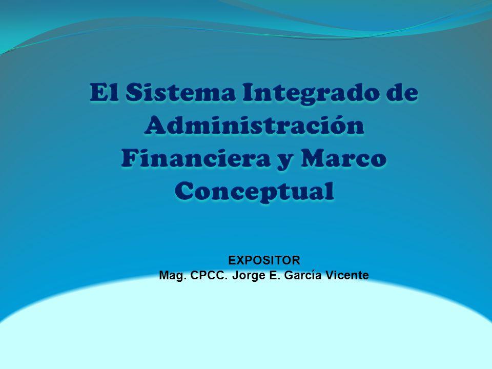 EXPOSITOR Mag. CPCC. Jorge E. García Vicente