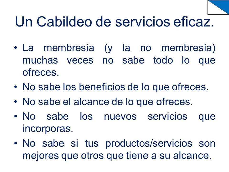 Un Cabildeo de servicios eficaz.