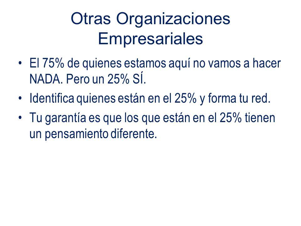 Otras Organizaciones Empresariales El 75% de quienes estamos aquí no vamos a hacer NADA.