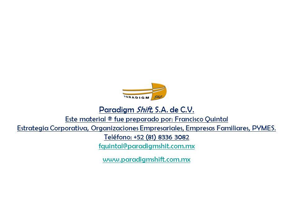 Paradigm Shift, S.A.de C.V.