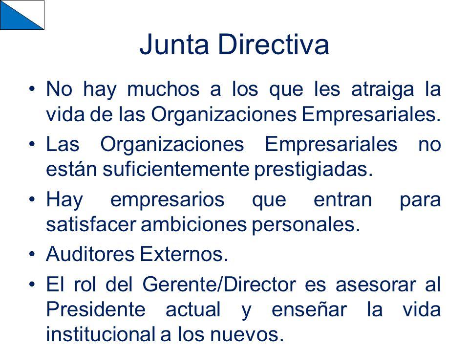 Junta Directiva No hay muchos a los que les atraiga la vida de las Organizaciones Empresariales.