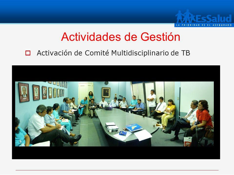 Activación de Comité Multidisciplinario de TB Actividades de Gestión