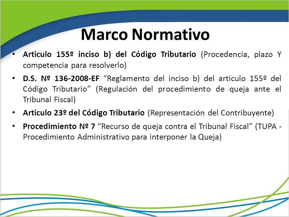 Marco Normativo Articulo 155º inciso b) del Código Tributario (Procedencia, plazo Y competencia para resolverlo) D.S. Nº 136-2008-EF Reglamento del in