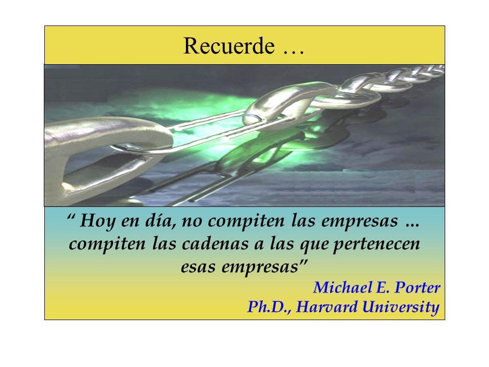 Hoy en día, no compiten las empresas … compiten las cadenas a las que pertenecen esas empresas Michael E.