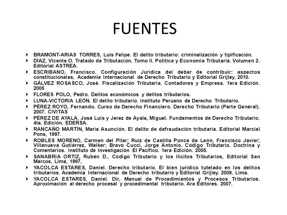 FUENTES BRAMONT-ARIAS TORRES, Luis Felipe.El delito tributario: criminalización y tipificación.