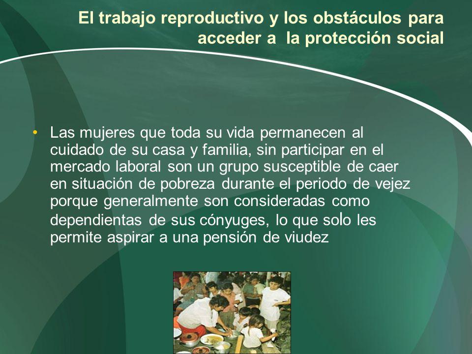 El trabajo reproductivo y los obstáculos para acceder a la protección social Las mujeres que toda su vida permanecen al cuidado de su casa y familia,