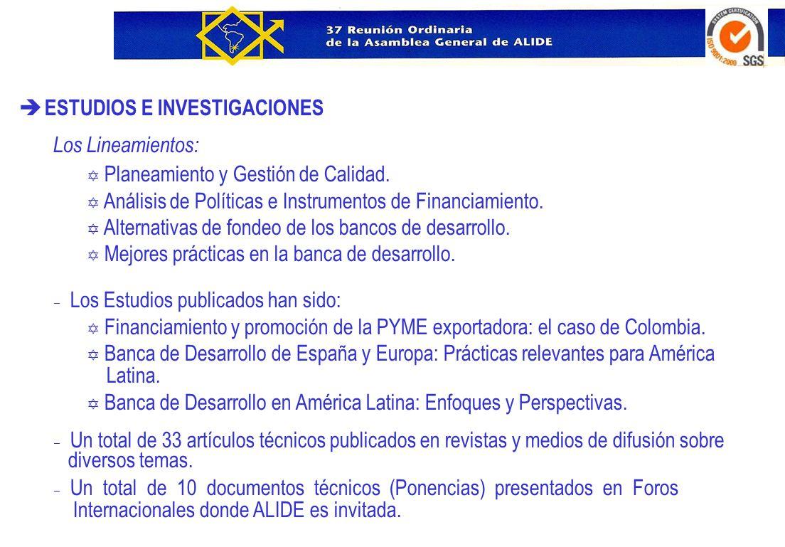 è ÍNDICE ALIDE Diseño de un instrumento de evaluación de IFD Primera etapa Y Reunión de Expertos, febrero de 2006.