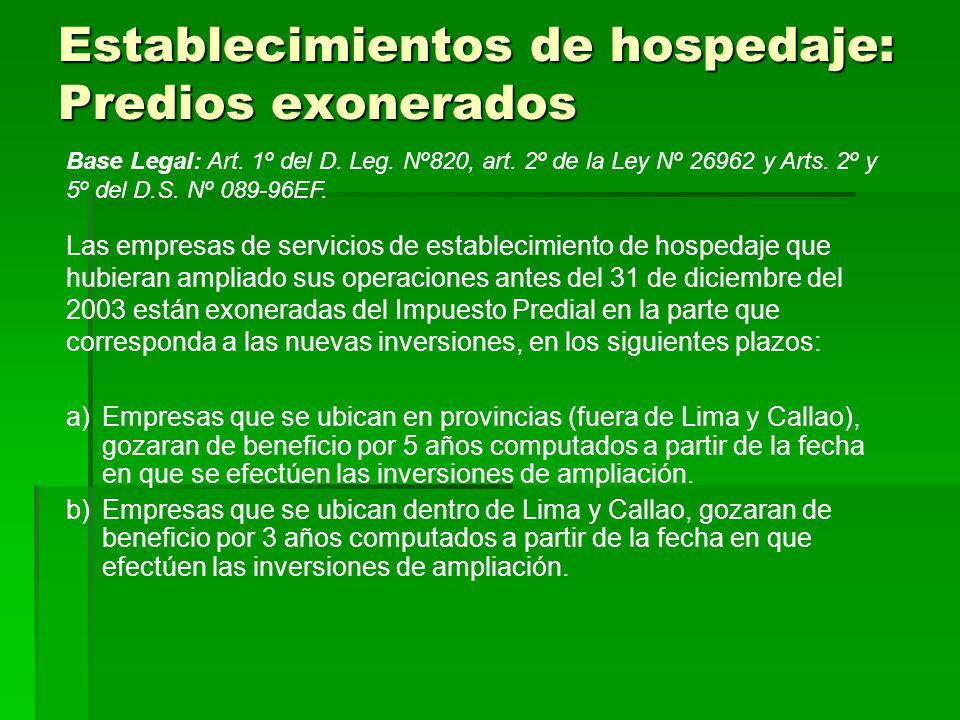a)Empresas que se ubican en provincias (fuera de Lima y Callao), gozaran de beneficio por 5 años computados a partir de la fecha en que se efectúen las inversiones de ampliación.