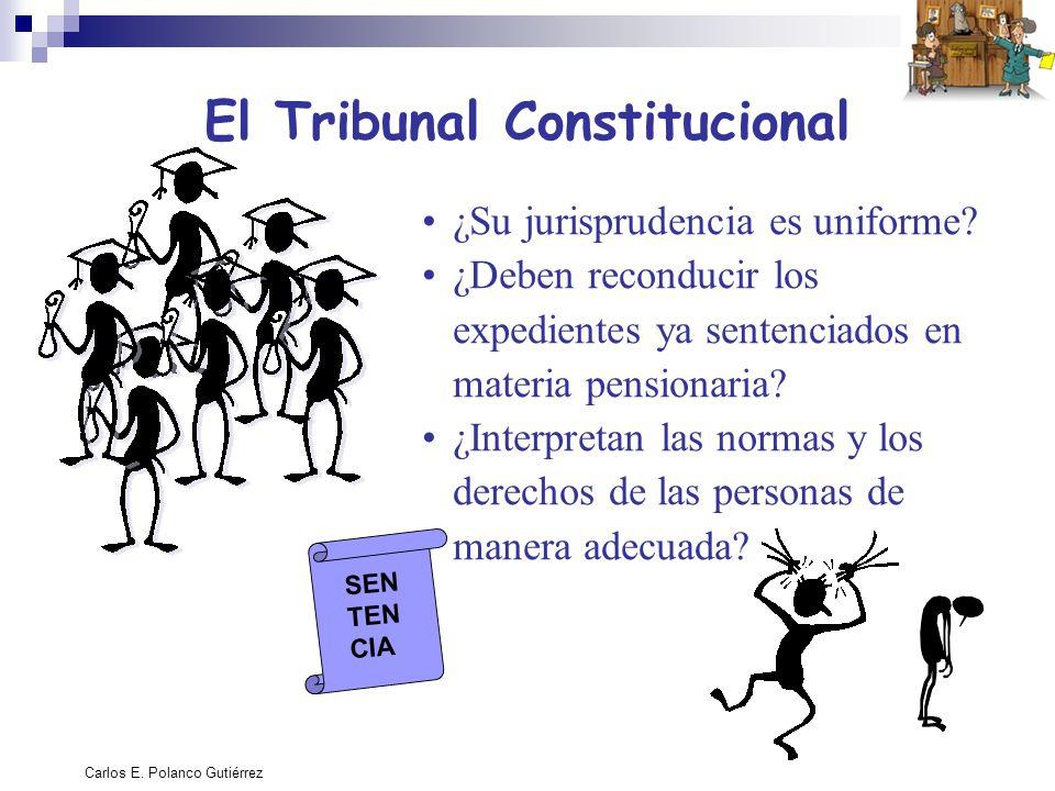 Carlos E. Polanco Gutiérrez El Tribunal Constitucional ¿Su jurisprudencia es uniforme? ¿Deben reconducir los expedientes ya sentenciados en materia pe