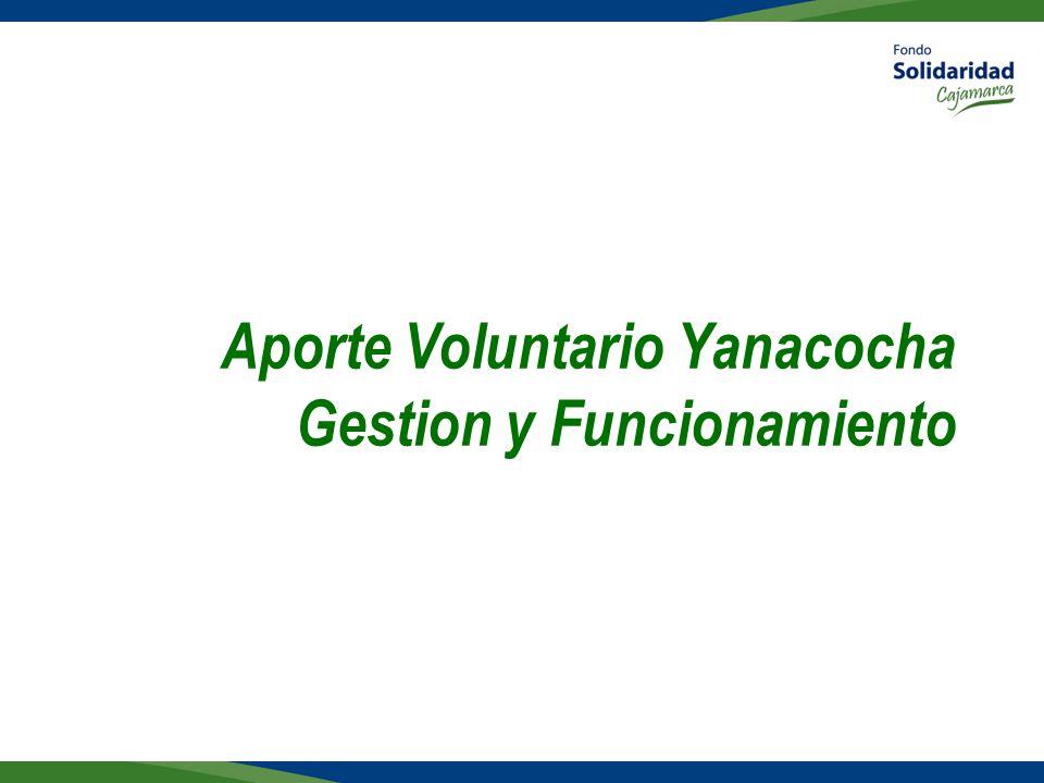 Aporte Voluntario Yanacocha Gestion y Funcionamiento