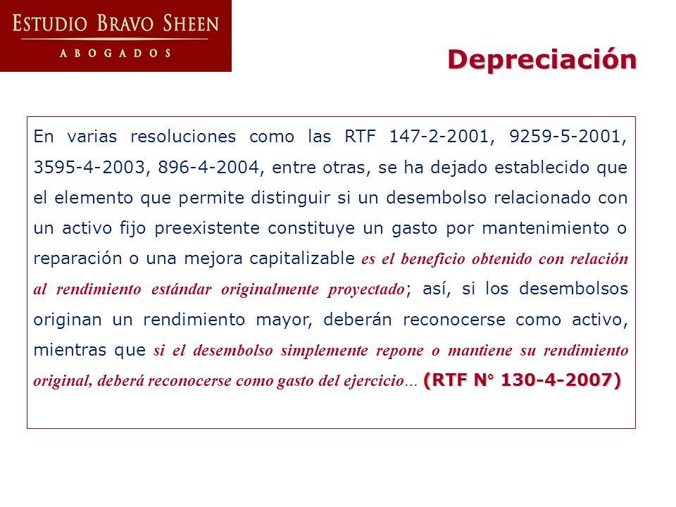 (RTF N° 130-4-2007) En varias resoluciones como las RTF 147-2-2001, 9259-5-2001, 3595-4-2003, 896-4-2004, entre otras, se ha dejado establecido que el