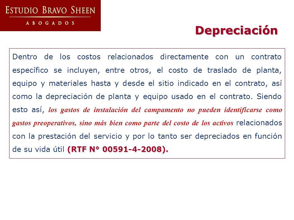 (RTF N° 00591-4-2008). Dentro de los costos relacionados directamente con un contrato específico se incluyen, entre otros, el costo de traslado de pla