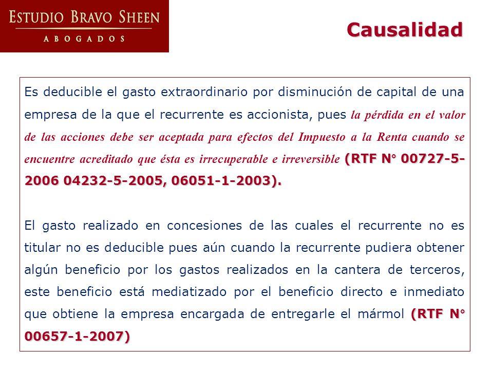 (RTF N° 00727-5- 2006 04232-5-2005, 06051-1-2003). Es deducible el gasto extraordinario por disminución de capital de una empresa de la que el recurre