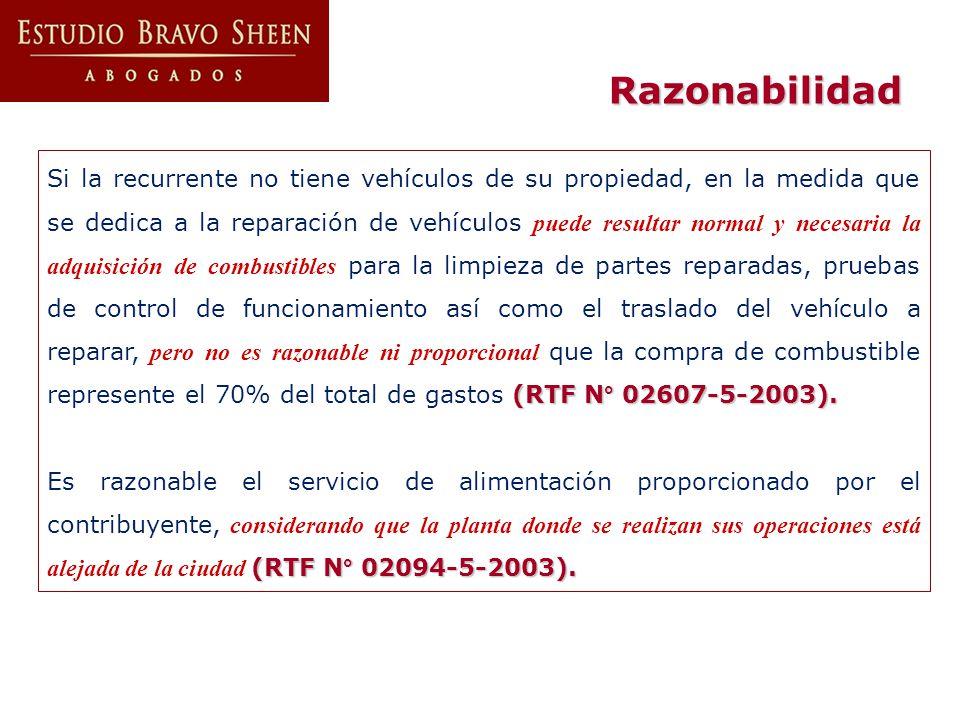 (RTF N° 02607-5-2003). Si la recurrente no tiene vehículos de su propiedad, en la medida que se dedica a la reparación de vehículos puede resultar nor