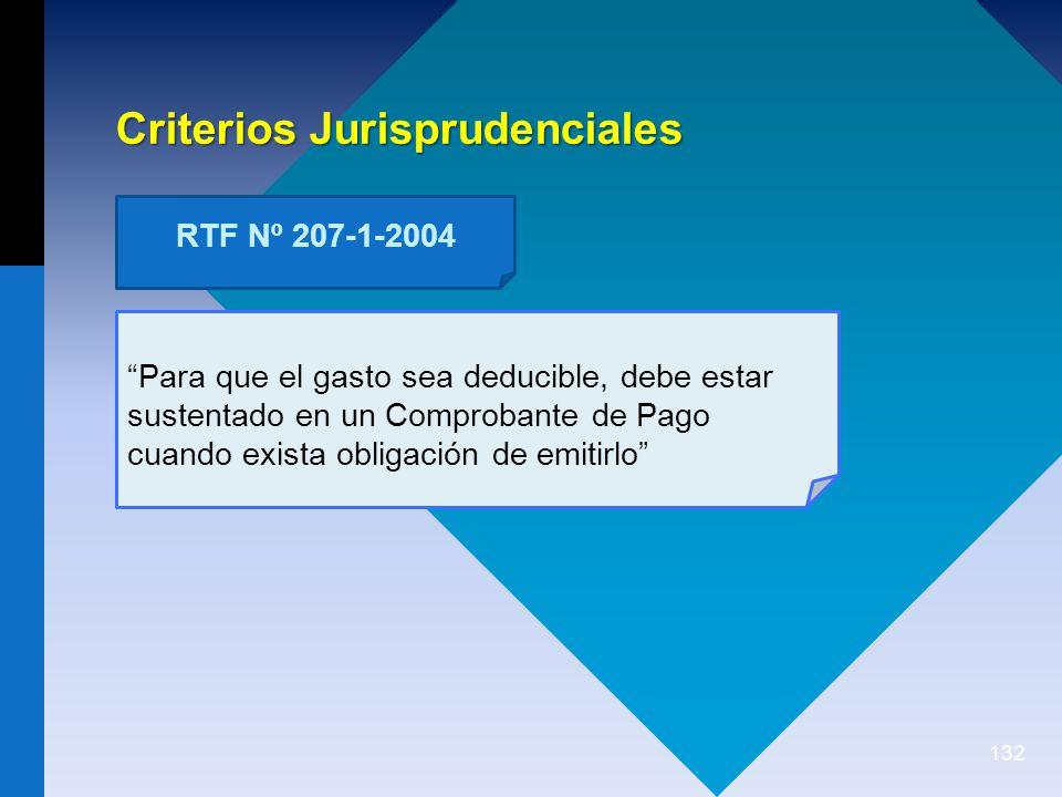 132 Para que el gasto sea deducible, debe estar sustentado en un Comprobante de Pago cuando exista obligación de emitirlo Criterios Jurisprudenciales RTF Nº 207-1-2004