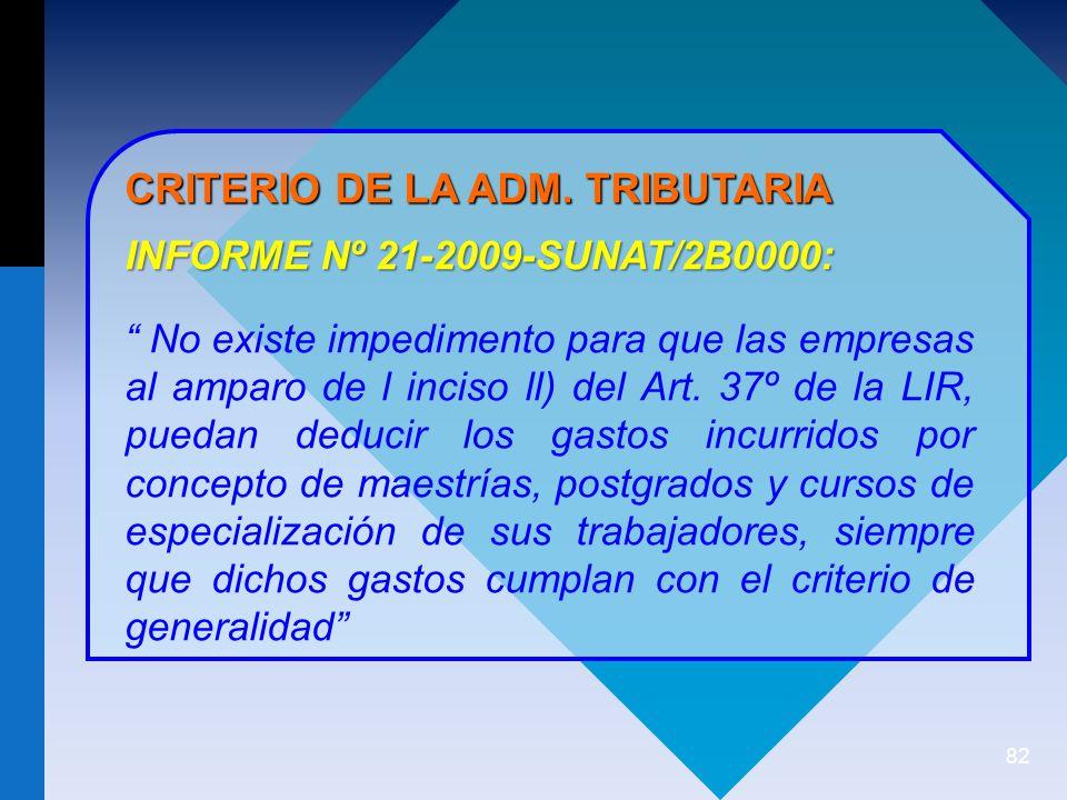 82 CRITERIO DE LA ADM.