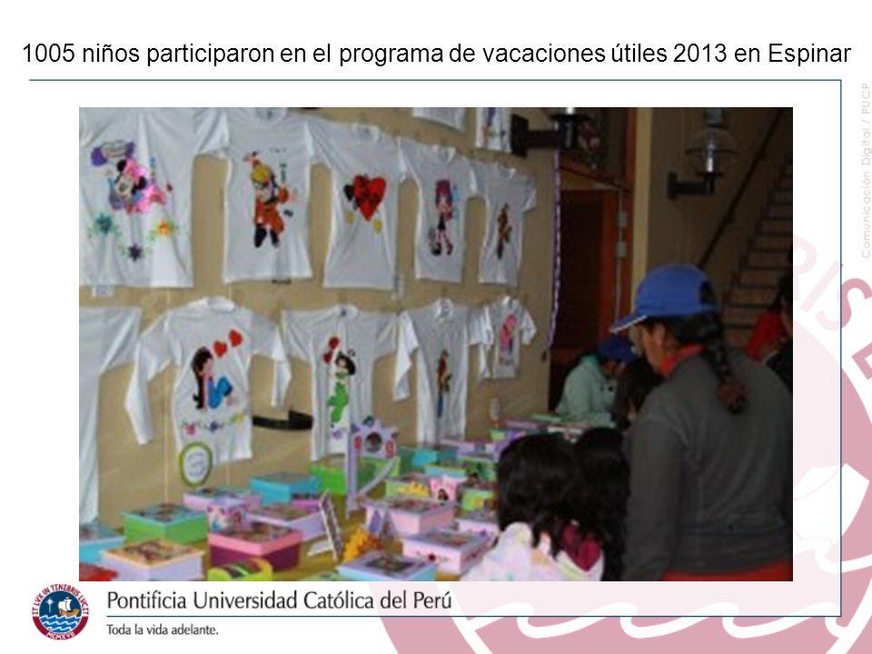 1005 niños participaron en el programa de vacaciones útiles 2013 en Espinar