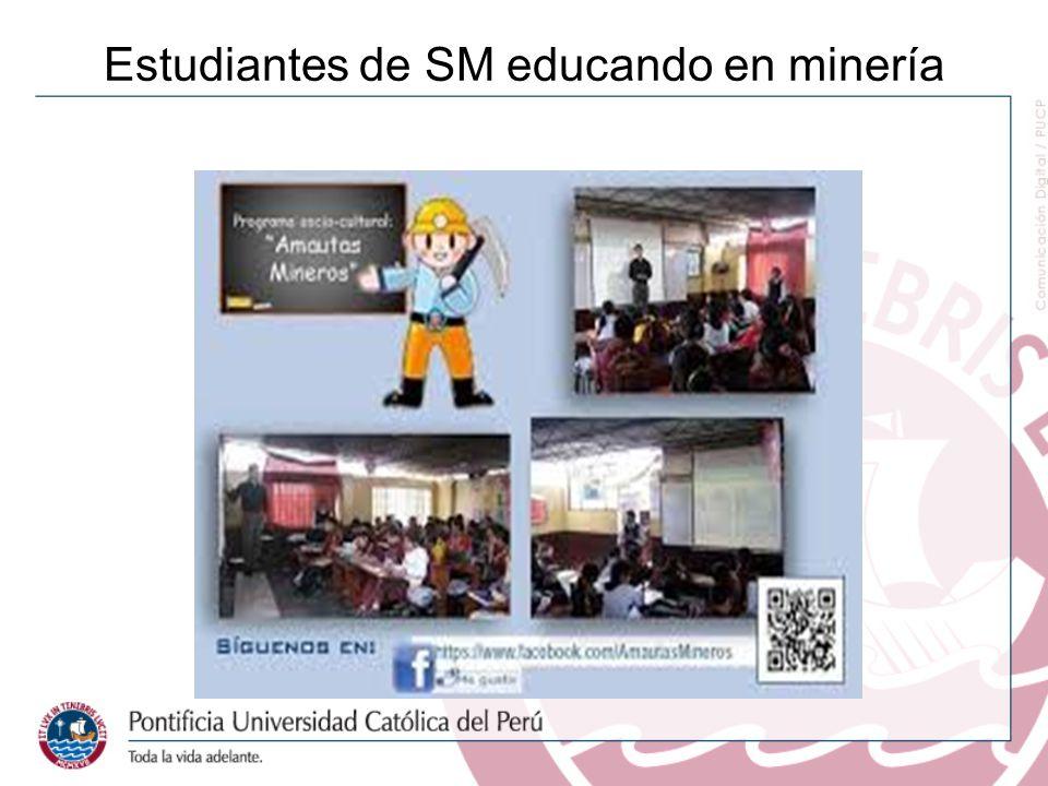 Estudiantes de SM educando en minería