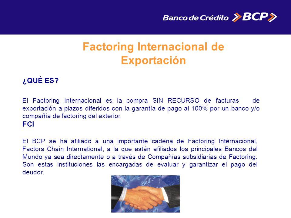 Factoring Internacional de Exportación ¿QUÉ ES.