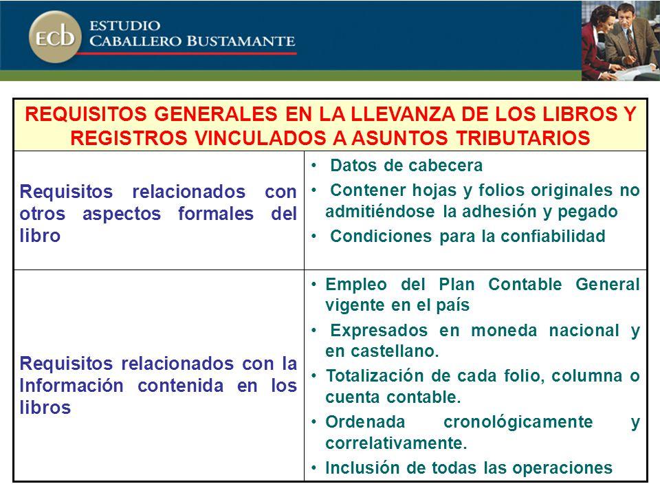 Empleo del Plan Contable General vigente en el país Expresados en moneda nacional y en castellano.
