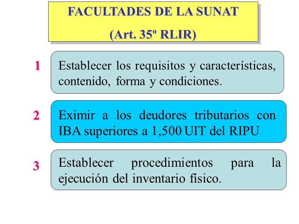 FACULTADES DE LA SUNAT (Art.