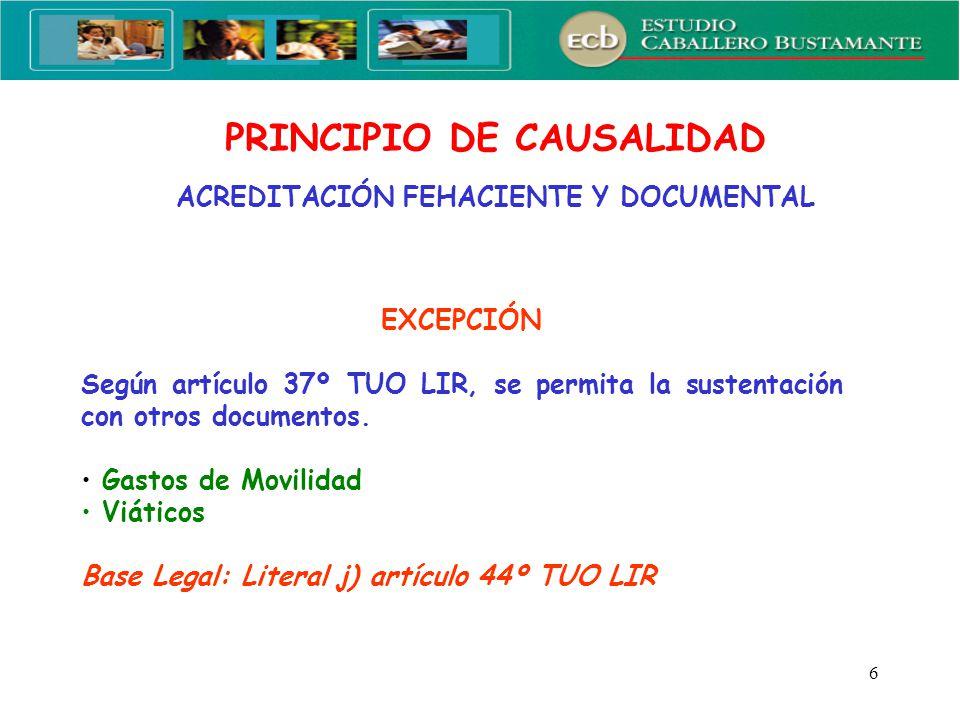 87 ANÁLISIS DE LAS REGLAS VIGENTES A PARTIR DEL EJERCICIO 2008 Modificaciones efectuadas por el Decreto Legislativo N° 979 (15.03.2007)