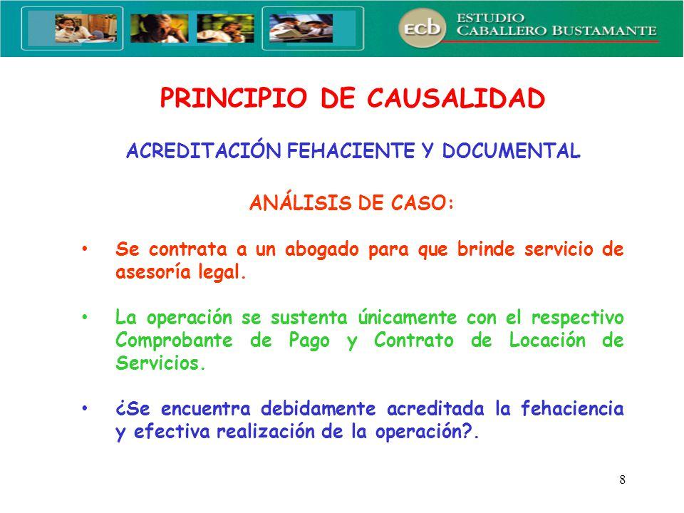 9 PRINCIPIO DE CAUSALIDAD Elementos Mínimos de Prueba RTF N° 755-1-2006:...
