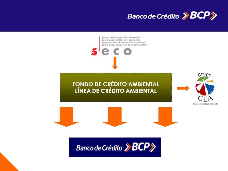 FONDO DE CRÉDITO AMBIENTAL LÍNEA DE CRÉDITO AMBIENTAL