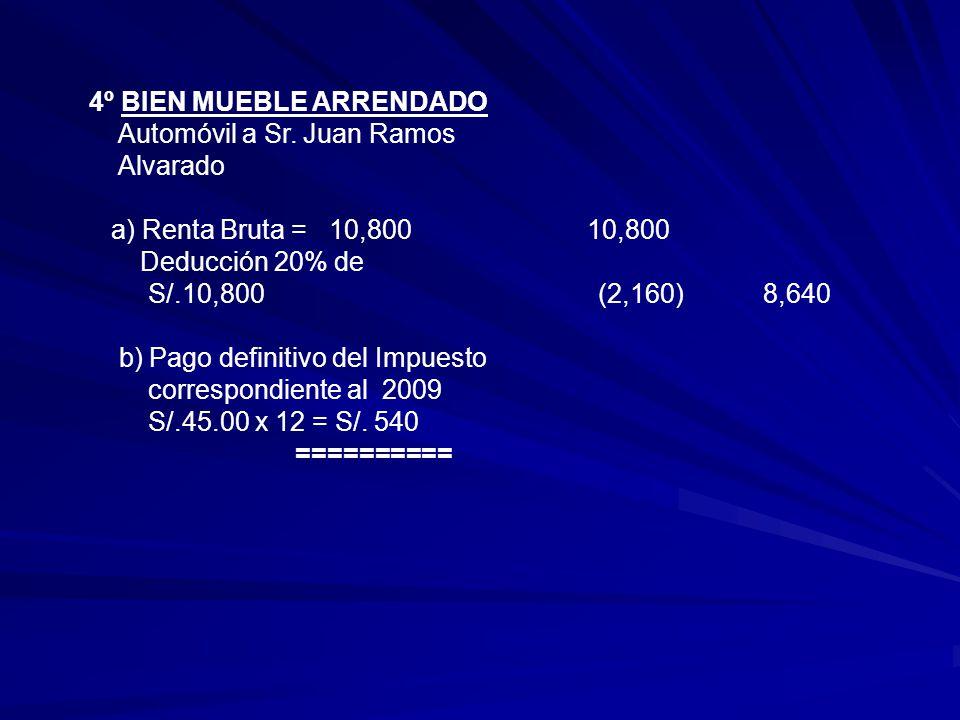 4º BIEN MUEBLE ARRENDADO Automóvil a Sr.