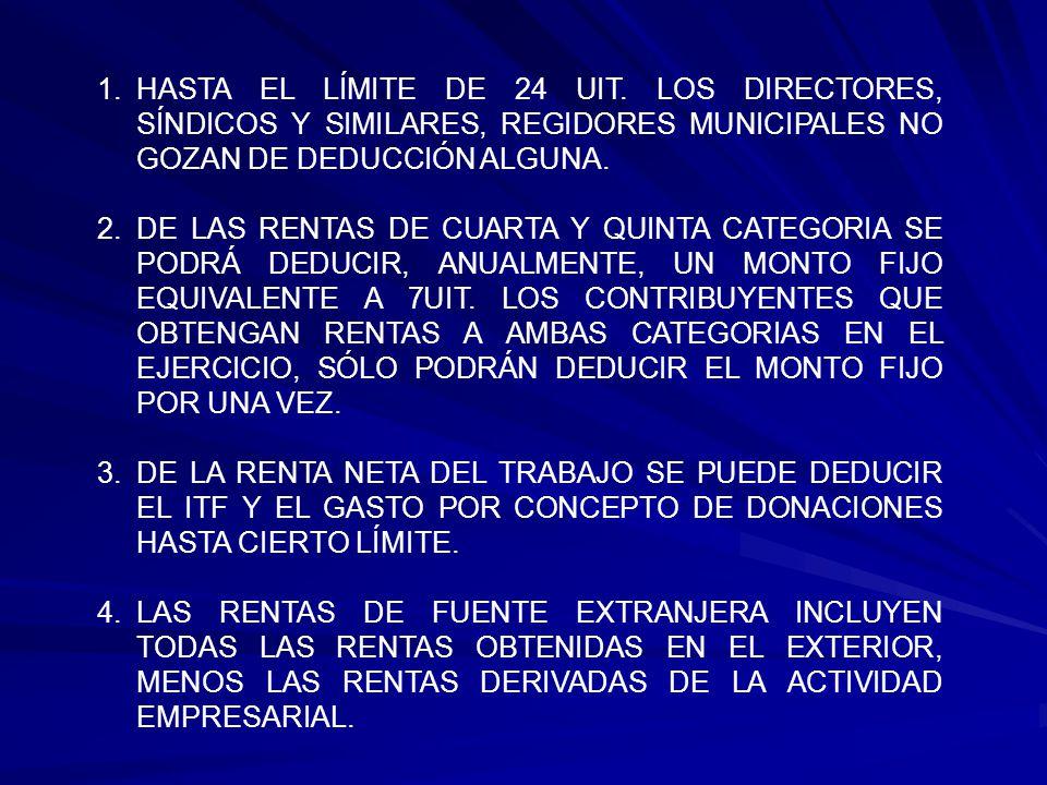 Deducciones - ITF (Según Constancia de Retención) (1,105) - Donación a UNMSM (Anexo Nº 1) (9,000) Art.